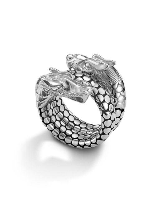 John Hardy - Metallic Naga Sterling Silver Coil Ring - Lyst