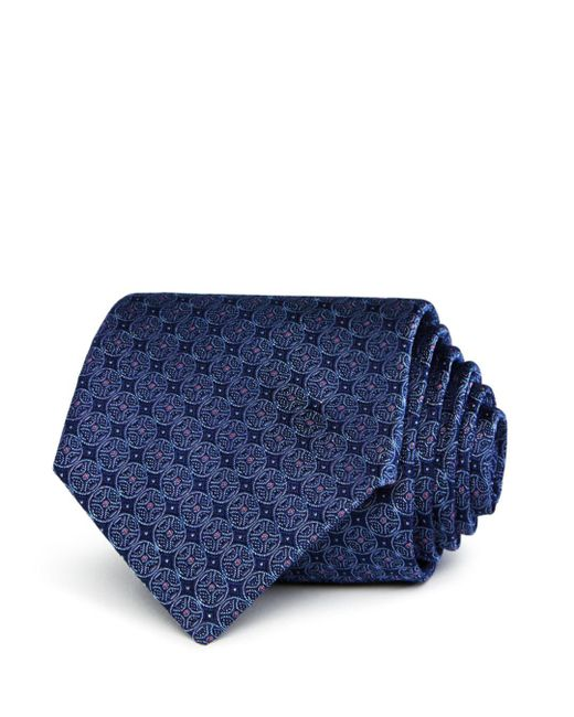 Bloomingdale's - Blue Circle-pattern Silk Classic Tie for Men - Lyst