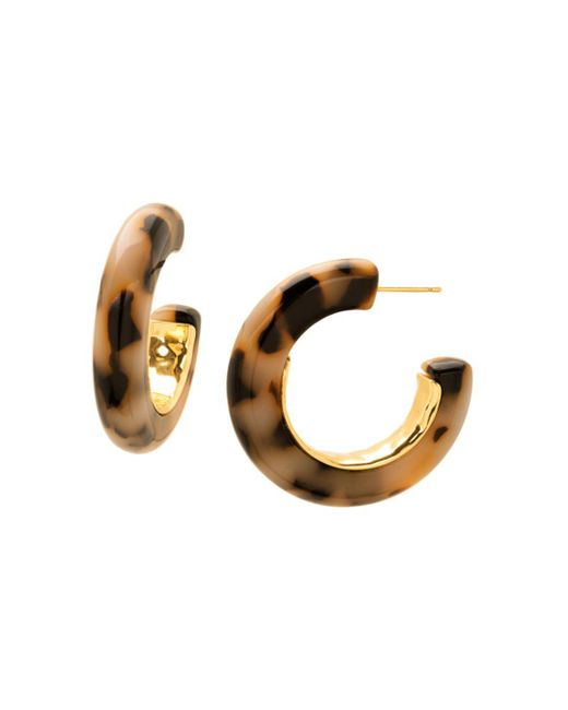 Gorjana - Metallic Irina State Lucite Hoop Earrings - Lyst