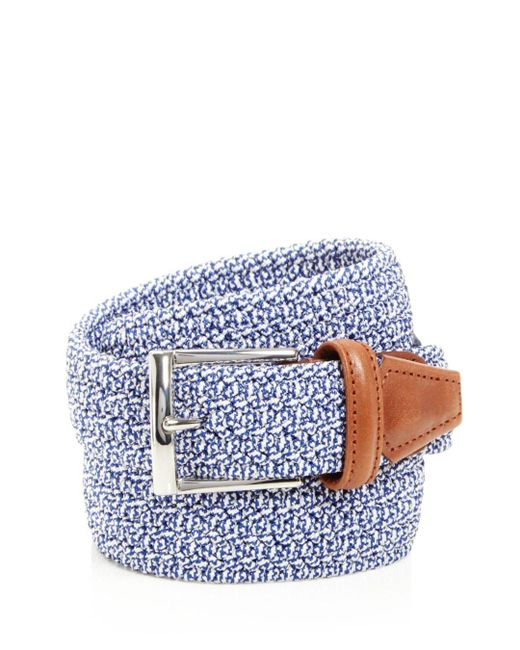 Andersons - Blue Stretch Woven Belt for Men - Lyst