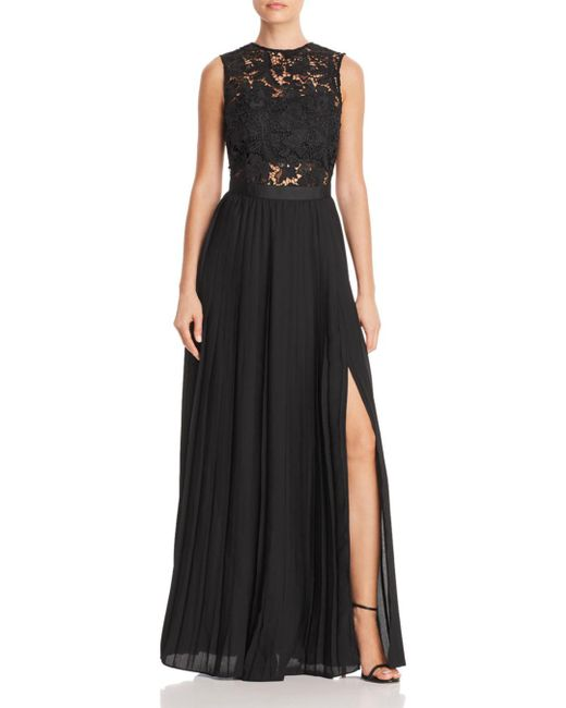 Aqua - Black Lace Bodice Gown - Lyst