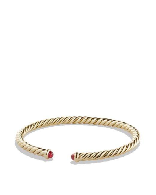 David Yurman - Metallic X Bracelet With Diamonds In 18k Gold - Lyst