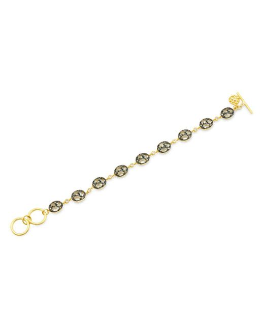 Freida Rothman - Metallic Rose D'or Pavé Cluster Toggle Bracelet - Lyst