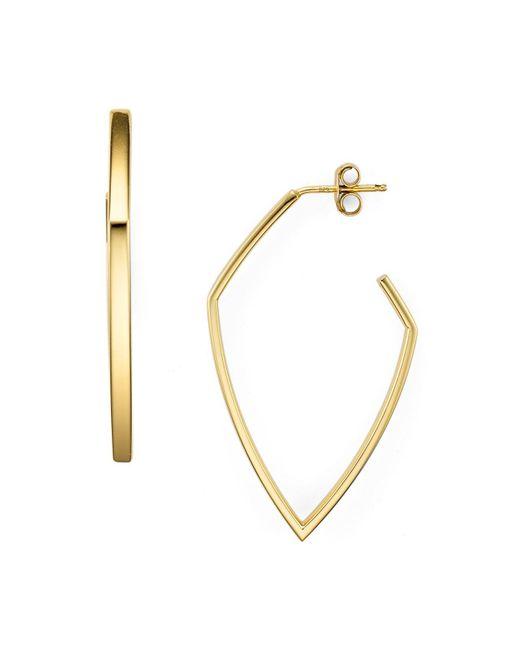 Argento Vivo | Metallic Angular Hoop Earrings | Lyst