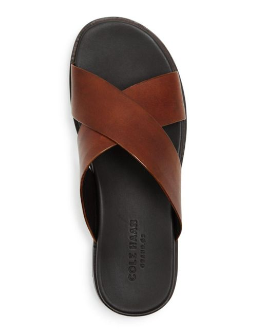 ef852555407f ... Cole Haan - Brown Men s Goldwyn 2.0 Criss Cross Sandal for Men - Lyst