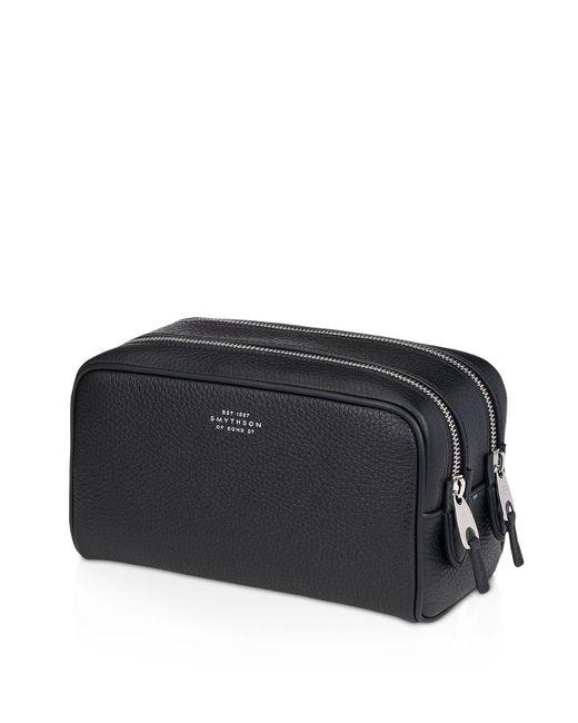 Smythson | Black Burlington Small Wash Bag for Men | Lyst