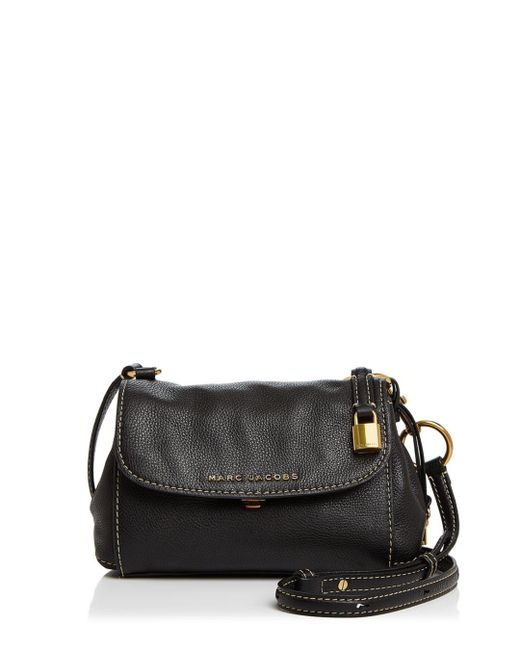 Marc Jacobs - Black Mini Boho Grind Leather Crossbody - Lyst