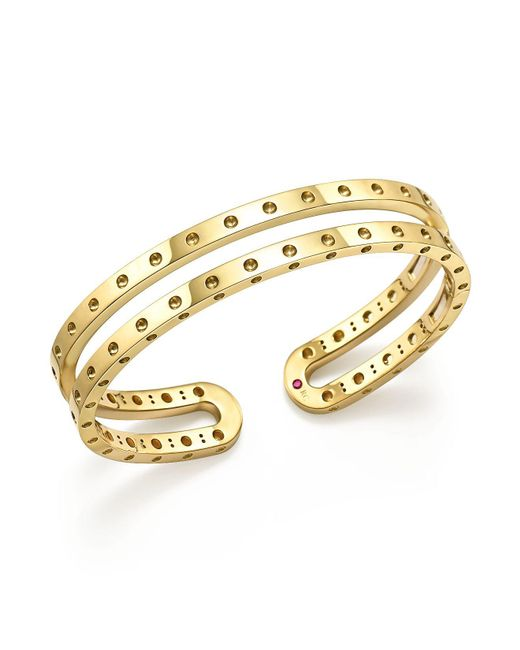 Roberto Coin | Metallic 18k Yellow Gold Symphony Double Bangle | Lyst