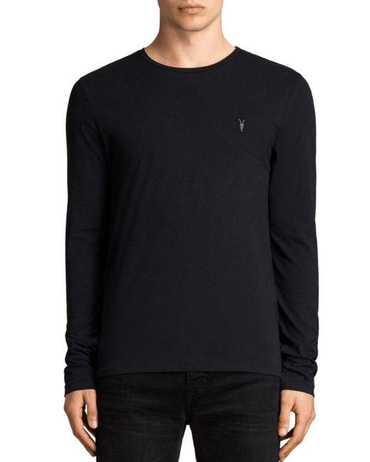 AllSaints - Black Tonic Sweater for Men - Lyst