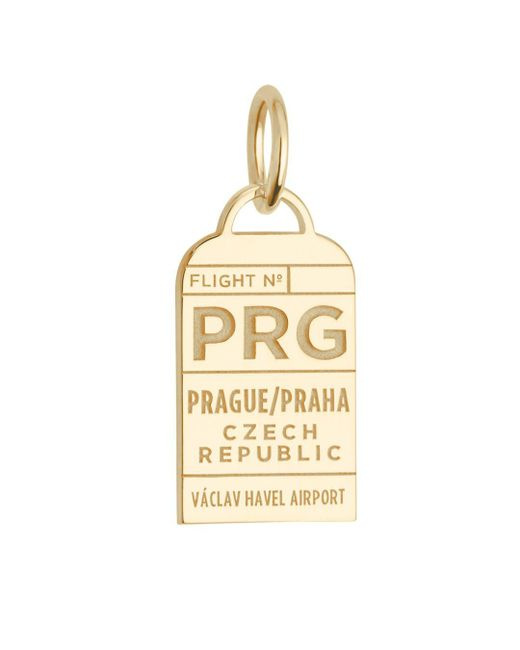 Jet Set Candy - Metallic Czech Republic Prg Luggage Tag Charm - Lyst