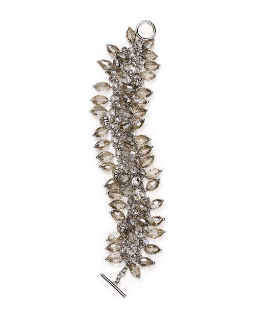 ABS By Allen Schwartz | Metallic Smoky Cluster Bracelet | Lyst