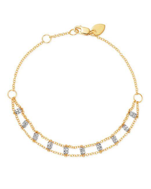 Meira T - Metallic 14k White & Yellow Gold Diamond Bars Bracelet - Lyst