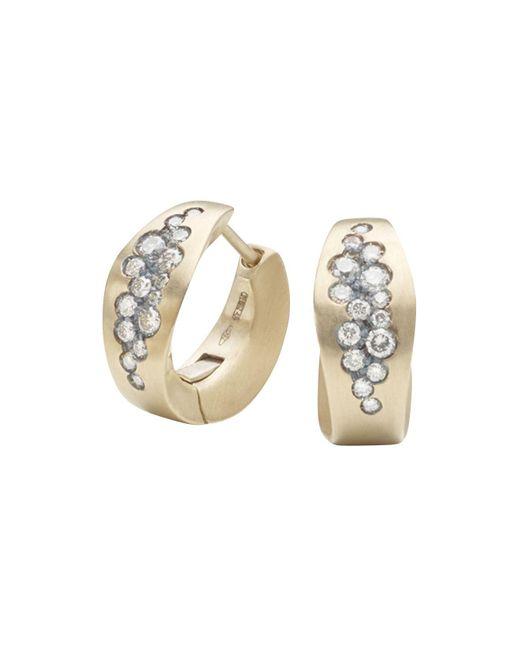 Antonini | Matte 18k White Gold Matera Silvermist Diamond Earrings | Lyst