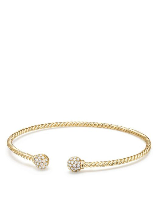 David Yurman - Metallic Solari Bead Bracelet With Diamonds In 18k Gold - Lyst