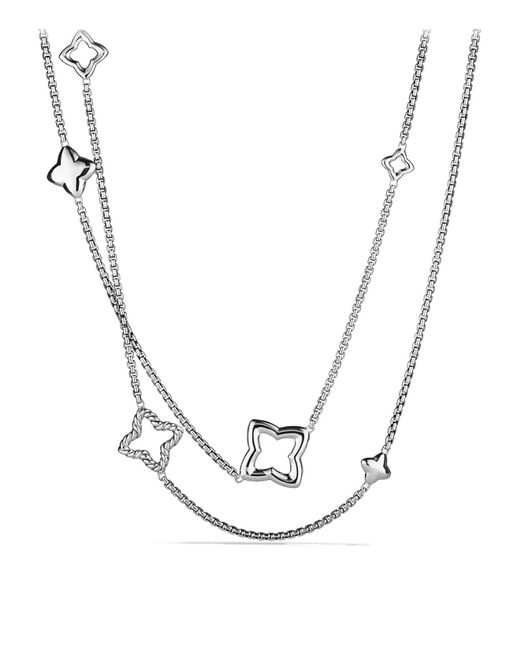 David Yurman | Metallic Quatrefoil Chain Necklace | Lyst