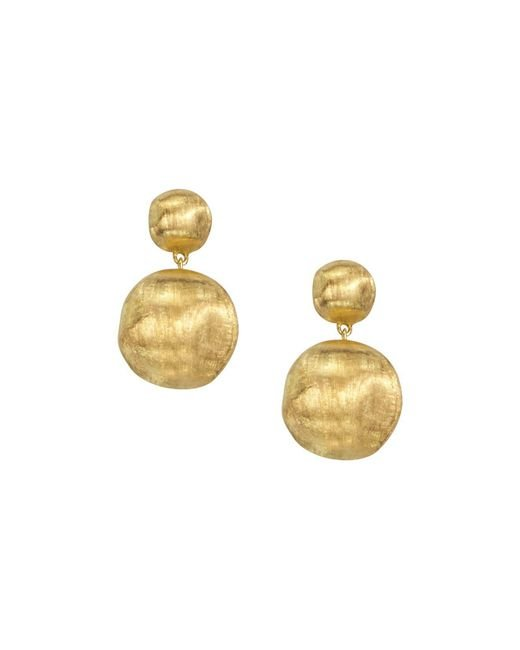 "Marco Bicego | Metallic ""africa Collection"" 18k Yellow Gold Bead Drop Earrings 