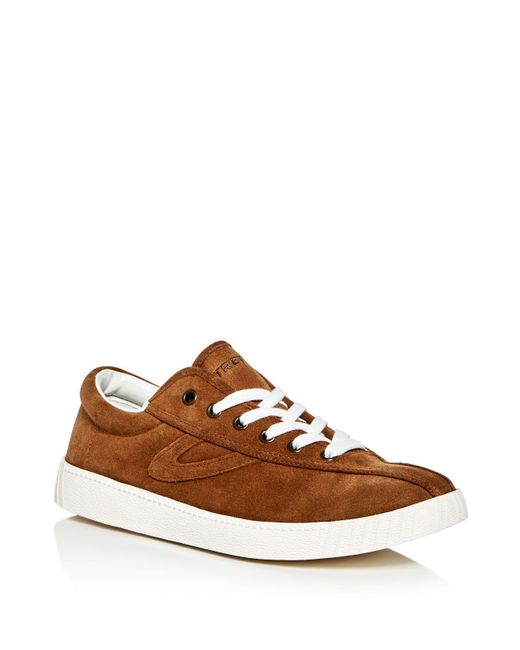Tretorn | Brown Men's Nylite Plus Suede Lace Up Sneakers for Men | Lyst