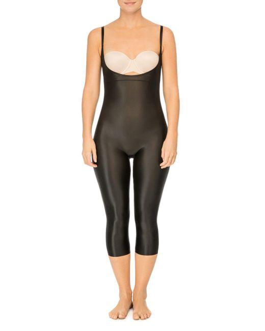 Spanx - Black Suit Your Fancy Plunge Open-bust Bodysuit - Lyst