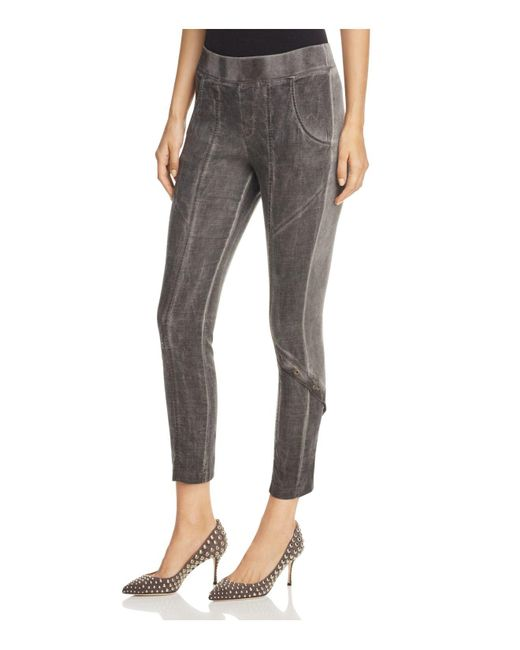 XCVI - Brown Catalin Mixed Media Pants - Lyst