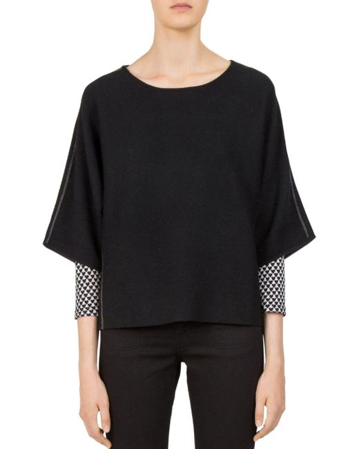 Gerard Darel - Black Catrine Side-stripe Sweater - Lyst