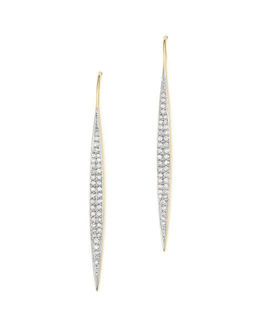 Adina Reyter - Metallic 14k Yellow Gold Marquise Drop Pavé Diamond Earrings - Lyst