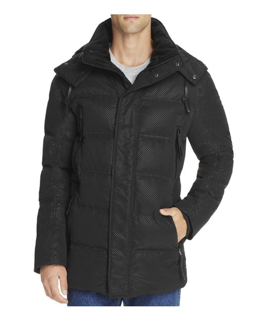 Andrew Marc | Black Polar Down Parka for Men | Lyst