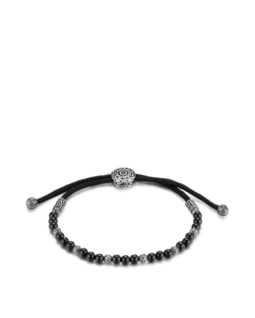 John Hardy | Men's Sterling Silver Classic Chain Beaded Bracelet With Black Onyx for Men | Lyst