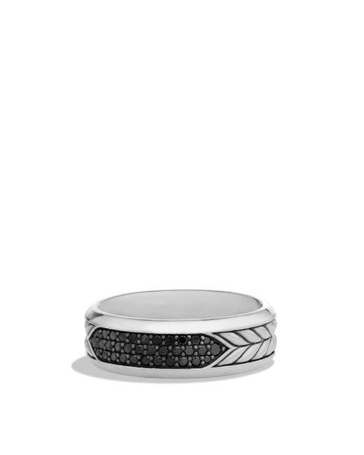 David Yurman | Metallic Pavé Band Ring With Black Diamonds for Men | Lyst