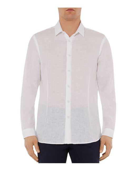 Orlebar Brown - White Morton Slim Fit Tailored Shirt for Men - Lyst