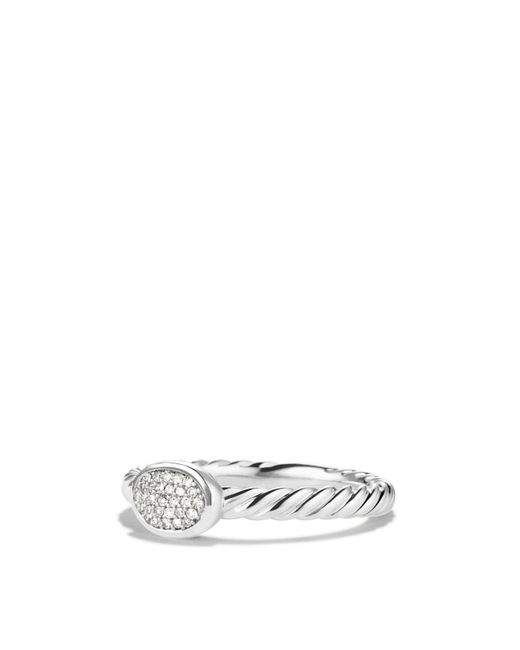 David Yurman - Metallic Cable Collectibles Oval Ring With Diamonds - Lyst