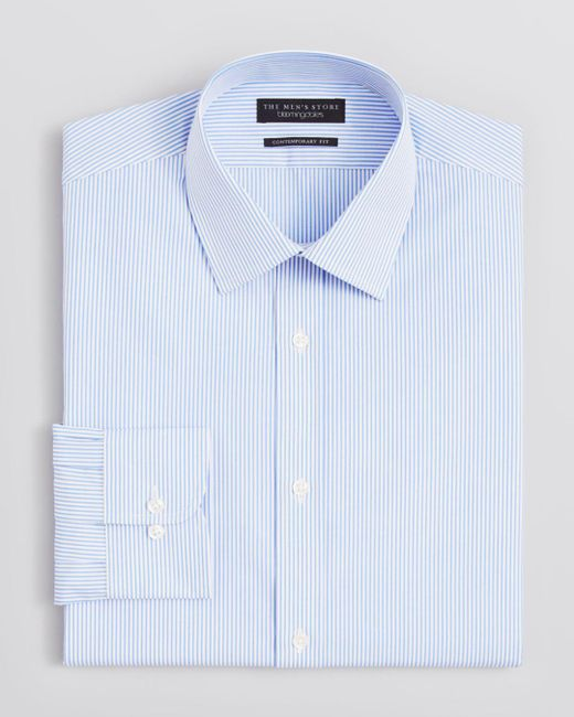 Bloomingdale's - Blue Striped Dress Shirt - Regular Fit for Men - Lyst