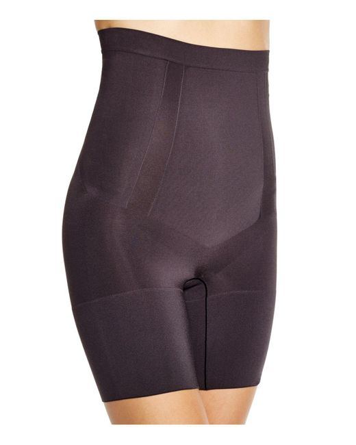 Spanx - Black Oncore High-waisted Mid-thigh Shorts - Lyst