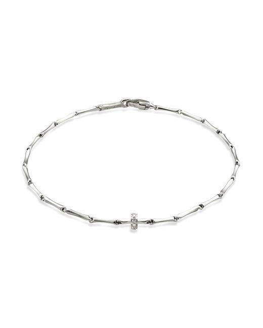 Chimento | Metallic 18k White Gold Bamboo Shine Bracelet With Diamonds | Lyst