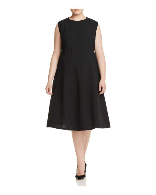 Lafayette 148 New York - Black Marley Fit-and-flare Dress - Lyst