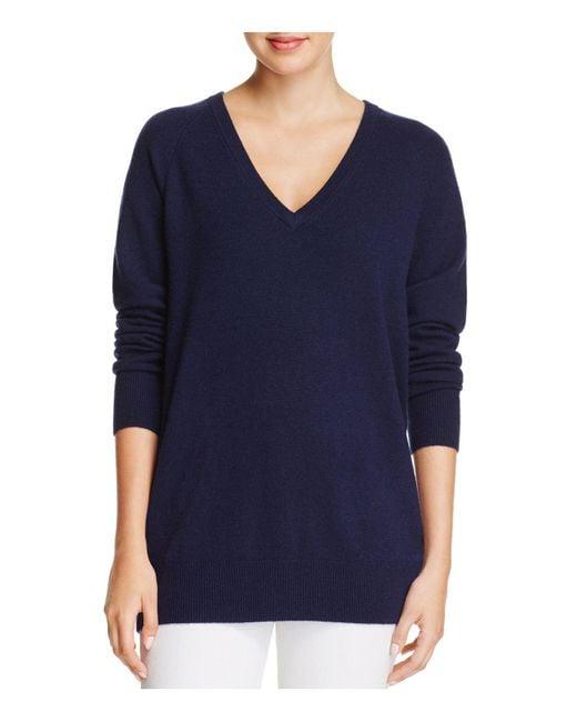 Equipment | Blue Asher V-neck Cashmere Sweater | Lyst