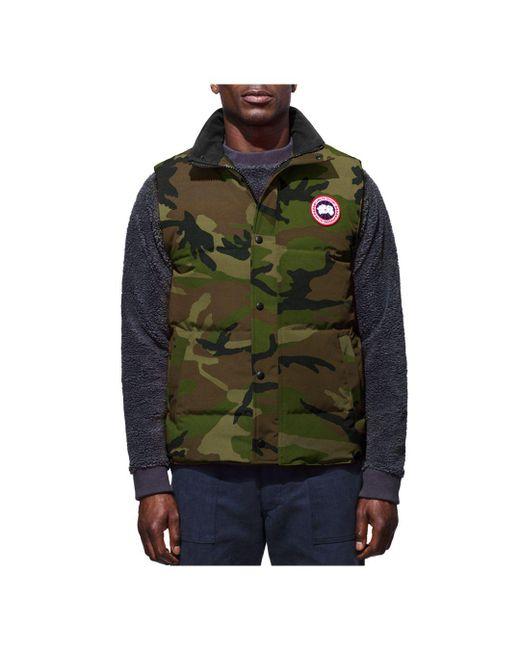 4fdf973f67c96e Canada Goose Garson Down Vest in Green for Men - Save 17% - Lyst