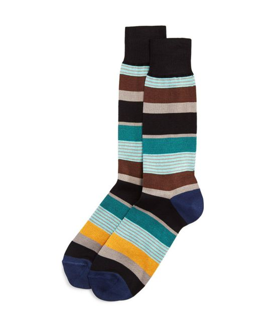 Paul Smith | Multicolor Davis-stripe Socks for Men | Lyst