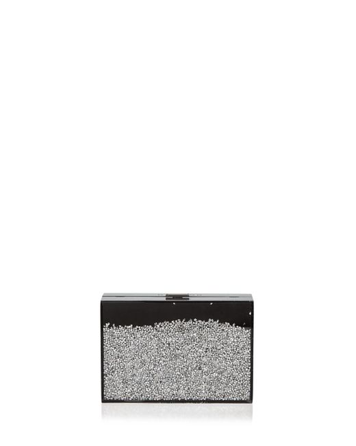 Halston Heritage - Black Flat Floating Glitter Small Minaudière - Lyst