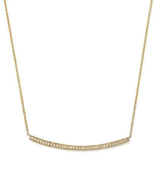 "Dana Rebecca | 14k Yellow Gold & Diamond Sylvie Rose Long Necklace, 17"" | Lyst"