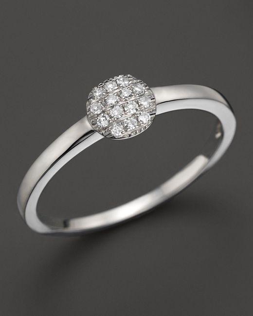 Dana Rebecca | 14k White Gold And Diamond Lauren Joy Mini Ring | Lyst