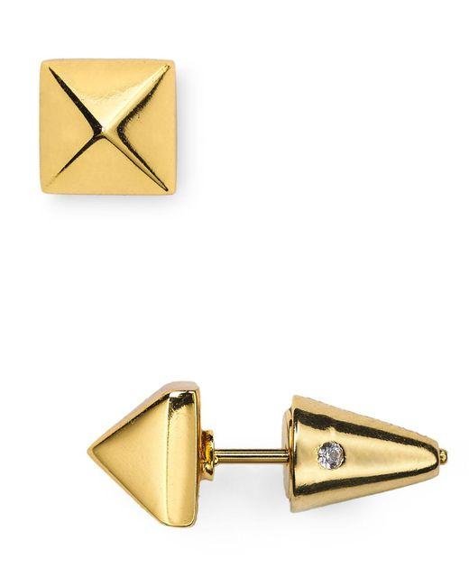 Eddie Borgo   Metallic Pyramid Stud Earrings   Lyst