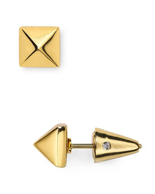 Eddie Borgo | Metallic Pyramid Stud Earrings | Lyst