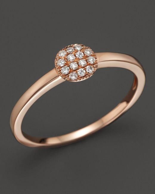 Dana Rebecca | Pink 14k Rose Gold And Diamond Lauren Joy Mini Ring | Lyst