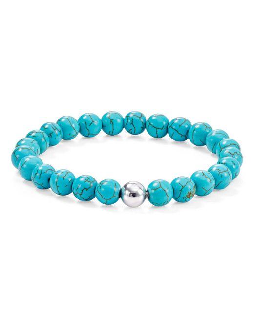 Aqua - Blue Sterling Silver & Stone Beaded Stretch Bracelet - Lyst