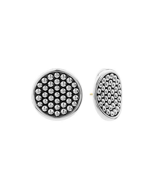 Lagos - Metallic Sterling Silver Bold Caviar Button Earrings - Lyst