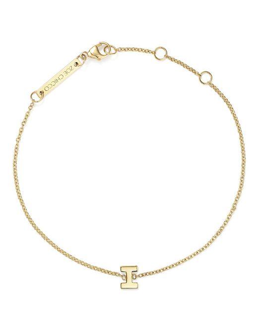 Zoe Chicco   Metallic 14k Yellow Gold Initial Bracelet   Lyst