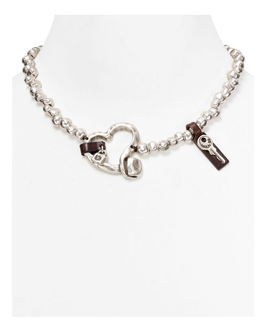 Uno De 50 | Metallic Heartfelt Necklace, 18"