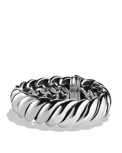 David Yurman | Metallic Hampton Cable Narrow Bracelet | Lyst