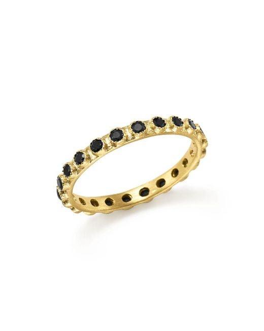 Armenta - Metallic 18k Yellow Gold Sueno Black Sapphire Stacking Ring - Lyst