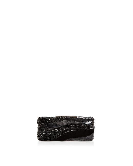 Sondra Roberts   Black Embellished Velvet Box Clutch   Lyst
